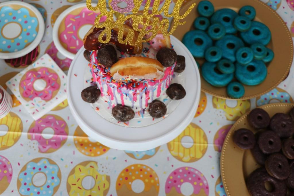 DIY Donut Drip Cake