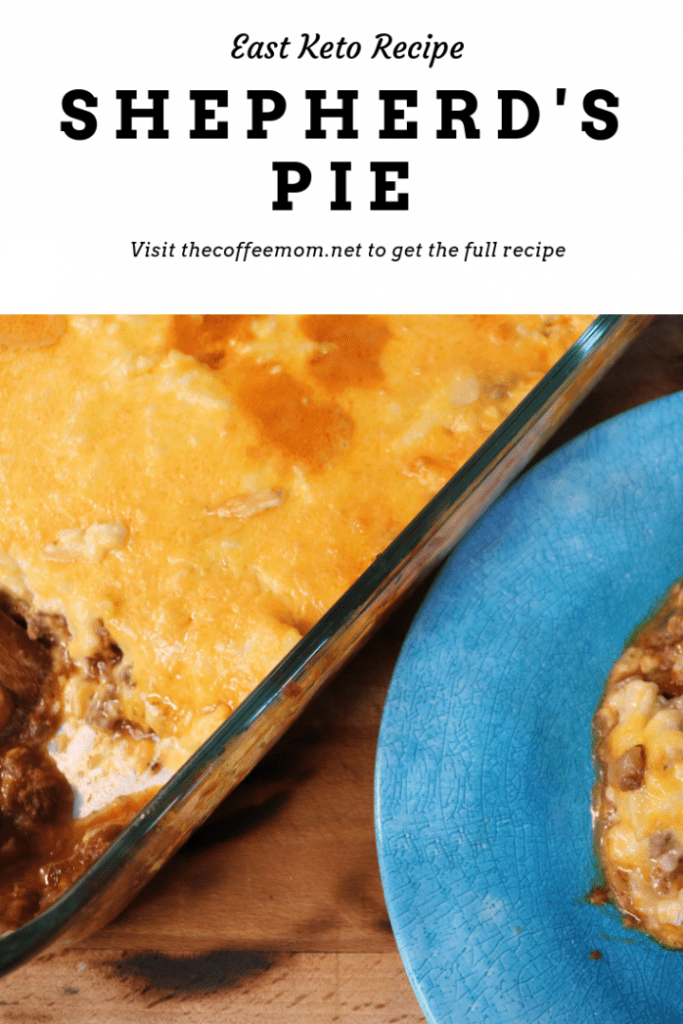 This easy to cook low carb keto shepherd's pie is a perfect family meal. Low carb comfort food! This keto dinner recipe is perfect for weeknights
