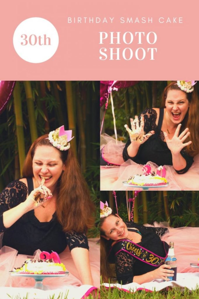 Smash cakes aren't just for babies anymore! A 30th birthday smash cake photo shoot is a fun way to celebrate the coming of a new and fabulous decade!