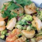 shrimp salad and avocado