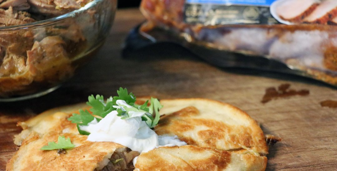 Slow Cooker Pulled Pork Quesadillas