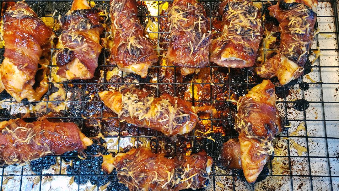 Bacon Wrapped BBQ Chicken Tenderloins