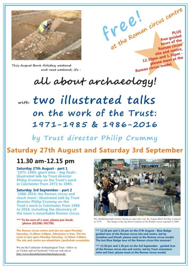 Saturday 27th August: all about archaeology at the Roman circus