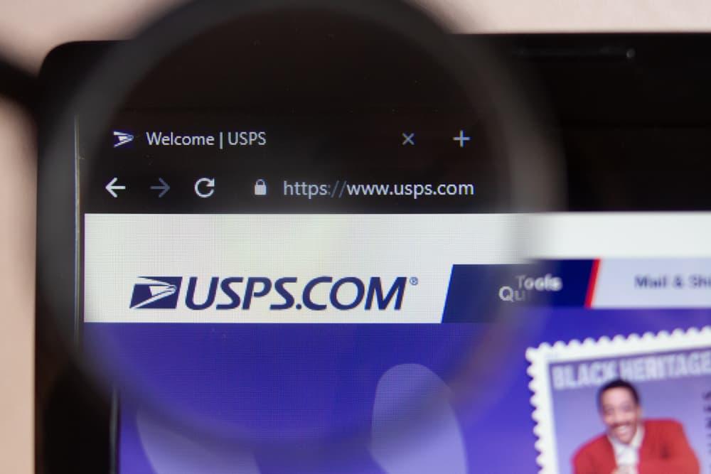 USPS website homepage