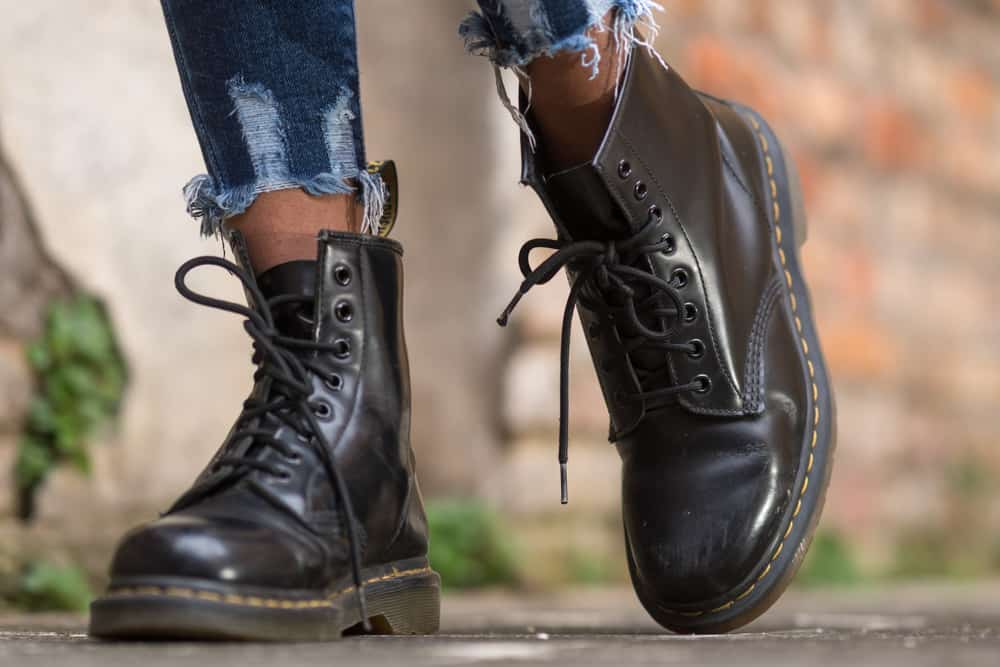 Classic black leather Dr. Martens AirWair boots