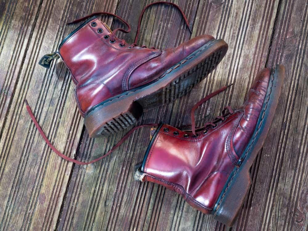worn pair of dr. martens