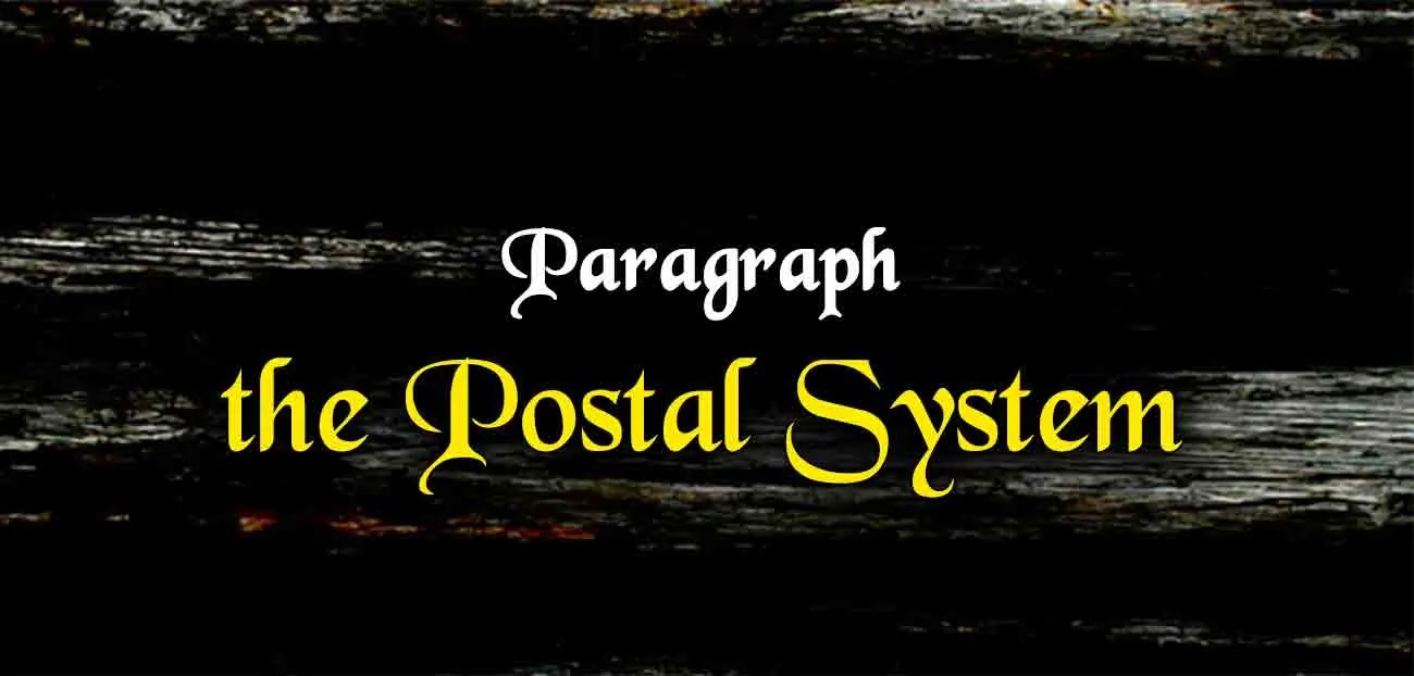 Short Paragraph on the Postal System | The College Study