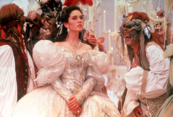 Jennifer Connelly as Sarah at the ball in Labyrinth