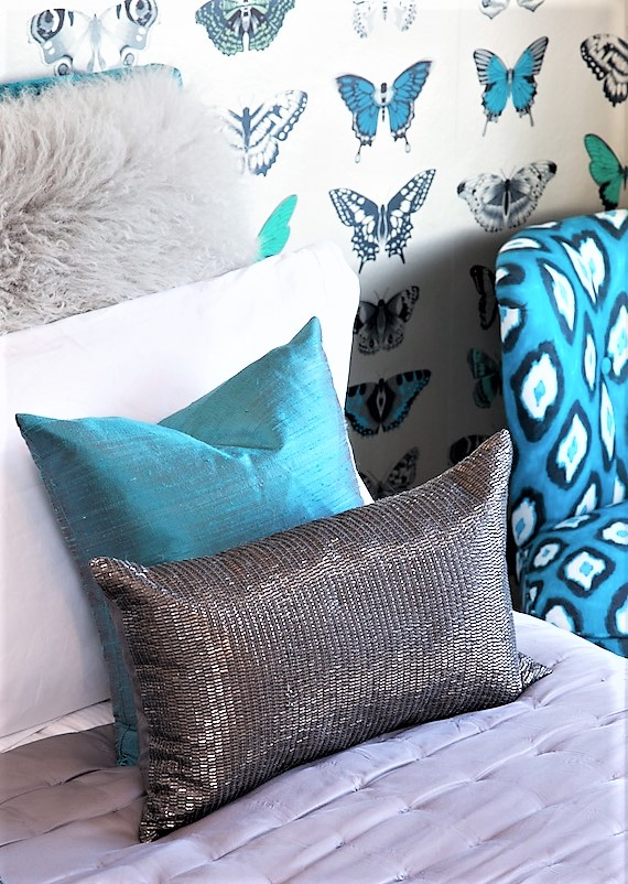 Sarah loves working with shades of turquoise