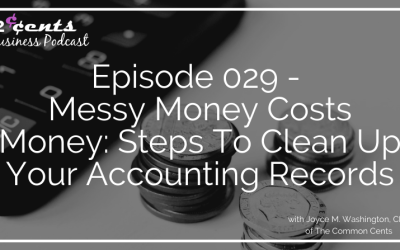 Episode 029 – Messy Money Costs Money: Steps To Clean Up Your Accounting Records