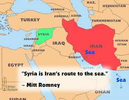 map of syria and iran