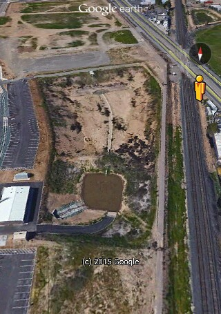 The Stockton AMTRAK FEMA Camp facility in the early stages of cosntruction.