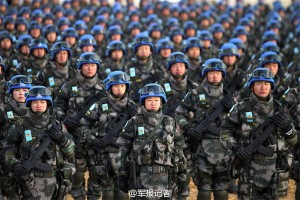 Chinese Peacekeepers coming to collect on the debt.