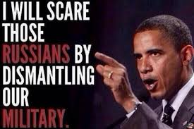 will scare russians by dismantling our miltiary