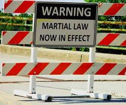 martial law signs