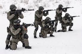 russian troops in snow