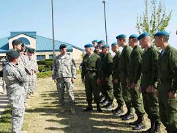 This picture and the one above it depict Russian soldiers at Ft. Carson. The Russians and other foreign troops (e.g. Germans, Canadians, Danes) are part of Jade Helm. They are here to carry out the mission should American troops stand down.