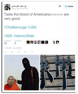 ISIS tweet connected to Chattanooga attacks on military recruiters.