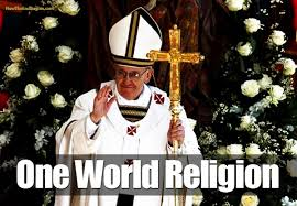 One religion, says the Pope, and that religion does not worship Jesus as it faces East.