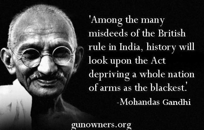 gandhi and gun control