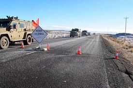 Nazi roadblock in Eastern Oregon. PAPERS PLEASE!