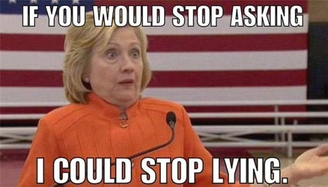 Image result for bill and hillary lying