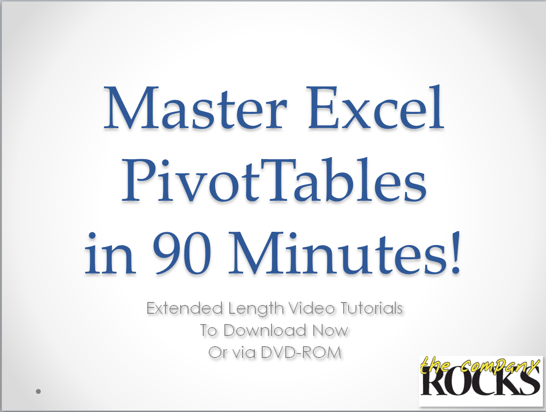 Create Pivot Table Reports