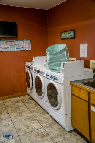 Laundry facilities were great and reasonably priced.