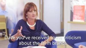 The Complaining Cow asks Tesco Dave Lewis about fake farms