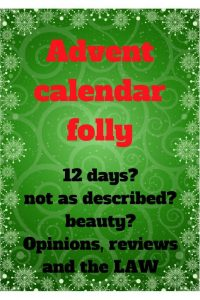 Zoella 12 day advent calendar and others and legal rights