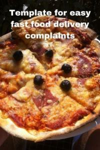 Pizza Your 'fast' food was cold or late to your plate? Well here's our hot refund template...i