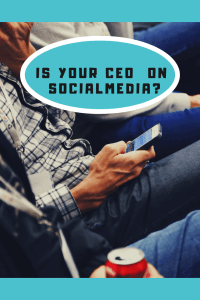 man looking at phone is your CEO on social media?