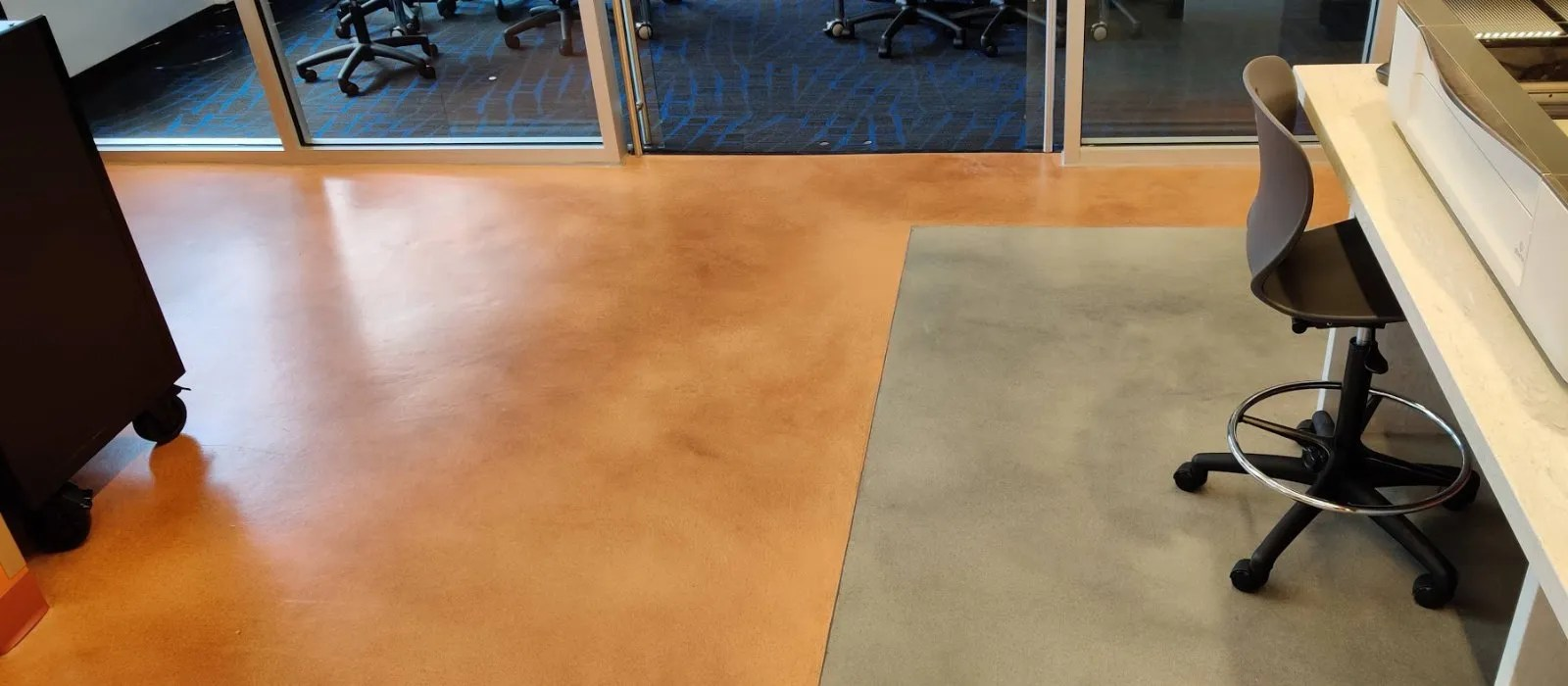concrete overlay we installed in NJ college