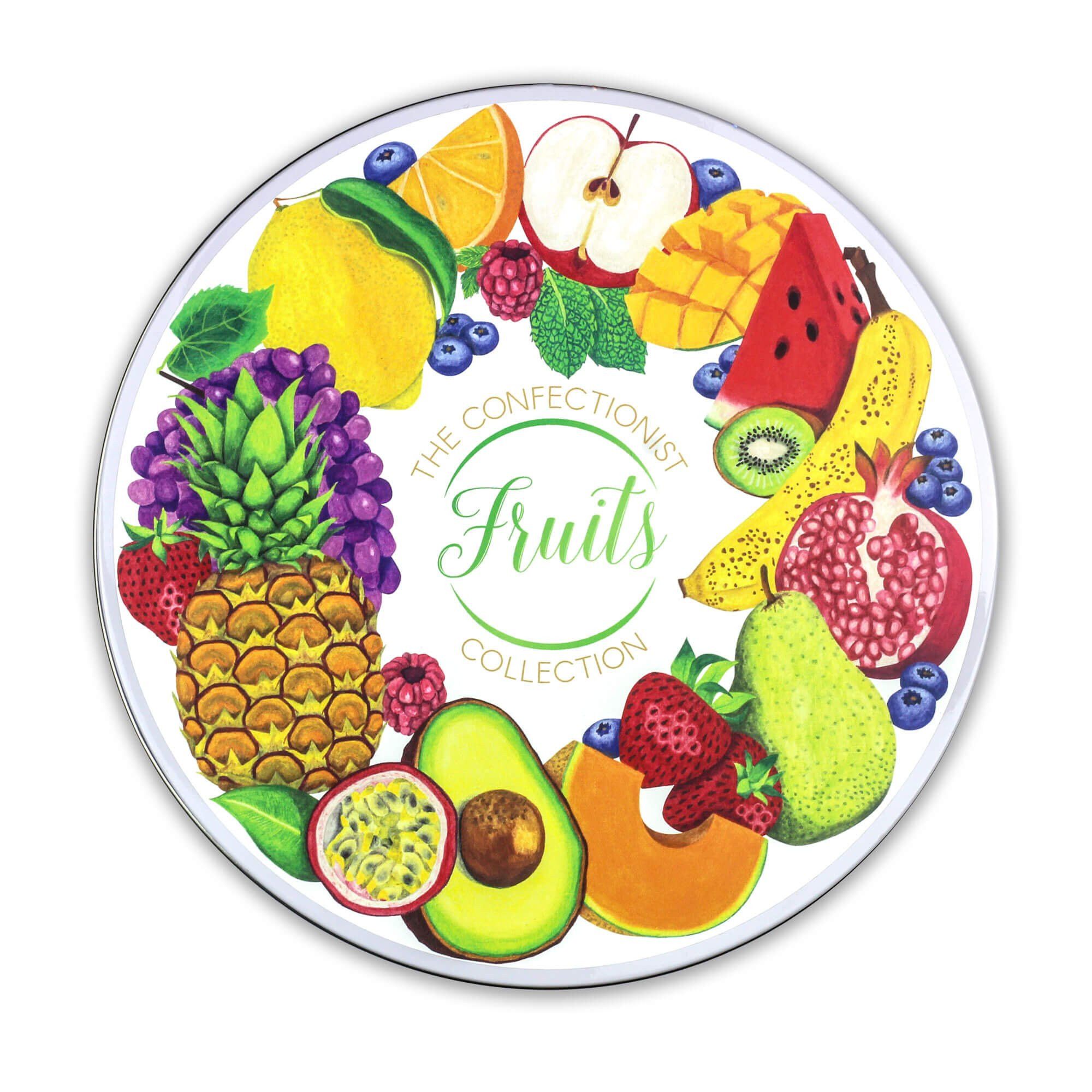 Fruit Biscuit Collection Tin Lid
