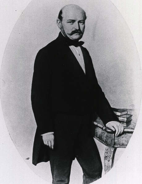Ignaz Philipp Semmelweis, 1857 (Photo from the National Library of Medicine)