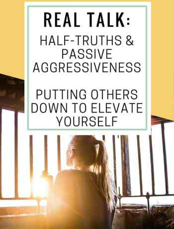 Never meet your heroes. It's a common phrase, check out what happened when I learned the truth, that many public figures put others down to elevate themselves. Self improvement requires effective and supportive communication. Don't be passive aggressive and tell half truths to make yourself look better. Half truths and passive aggressiveness - putting others down to elevate yourself - the confused millennial