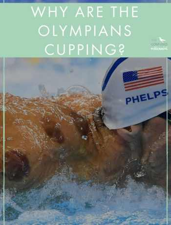 Why are the Olympians cupping? What are those scary purple marks on their bodies? Cupping is a Chinese medicine technique in which heated cups are applied in a twisting motion to the skin, creating a suction cup of sorts onto the body. The suction is supposed to help the energy and blood flow more freely, allowing muscles to soothe and ease. Olympians are probably cupping to get the blood flow going, ease the sore muscles, and perform their best! - The Confused Millennial