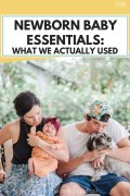 Newborn Baby Essentials_ What We Actually Used From Our Baby Registry Checklist, products new moms actually need during months 0-3 with a baby, the best must have baby products for the fourth trimester that are natural and organic, #babyproducts, #newborn, #newbornessentials, #babymusthaves, #newbornmusthaves, #newmom, #momlife, #fourthtrimester