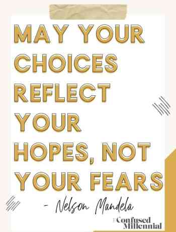 Monday Mantra: May Your Choices Reflect Your Hopes, Not Your Fears, fear quotes for motivation on overcoming scary change, facing fear with strength, how to let go of living in fear and over coming fear of success, faith over fear in love and life, on the other side of fear and your comfort zone is the biggest gift of all, trust the process, wisdom and truths around fear, do not let fear control you, #fearquotes, #motivationalquotes, #inspirationalquotes