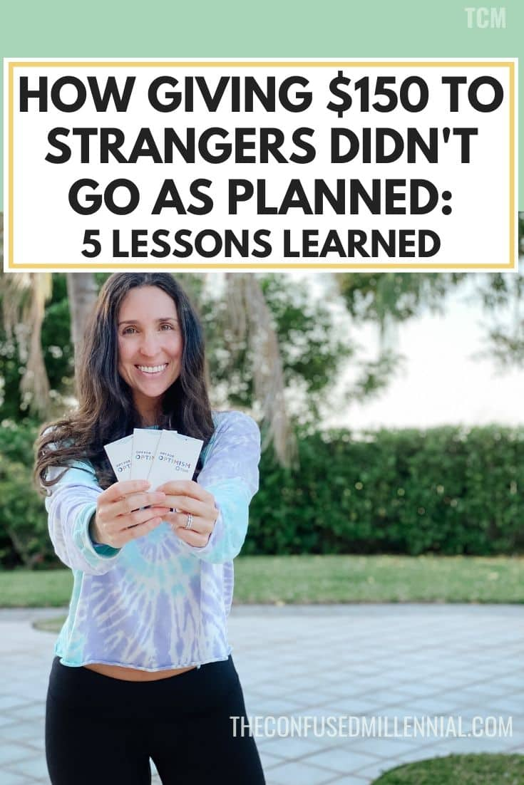 How Giving $150 To Strangers Didn't Go As Planned: 5 Lessons Learned, small acts of kindness ideas for kids and for adults, good deeds to do in your community, at work, or for teachers, giving gifts as easy nice gestures, intentional selfless acts of generosity to do, pay it forward and keep helping others daily, #payitforward, #frostitforward, #actsofkindness, #actsofgenerosity