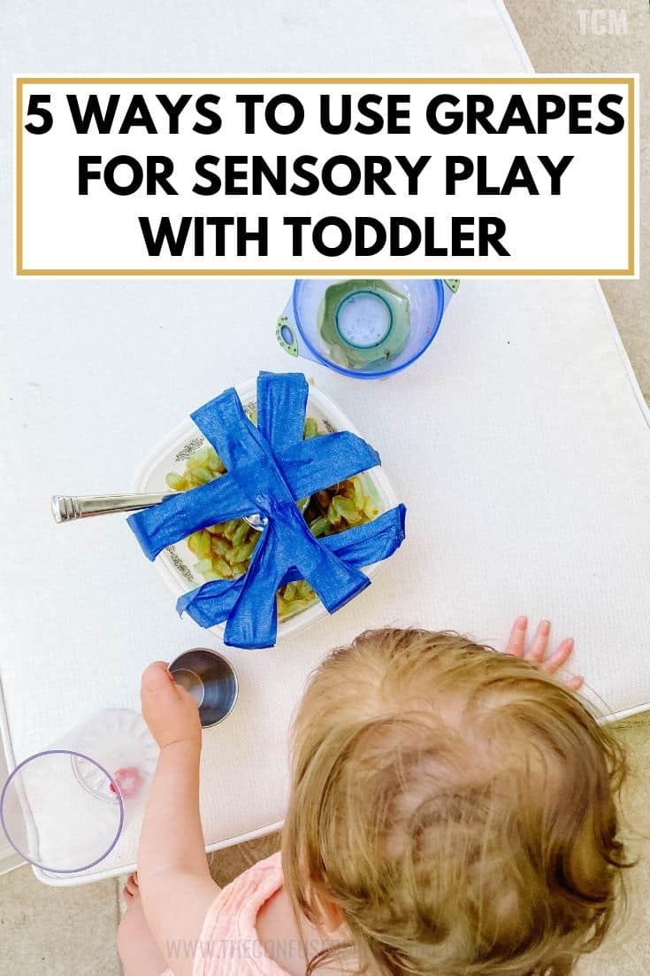 5 Ways To Use Grapes For Sensory Play With Toddlers: Taste Safe, Edible, Food Activities I Do With My 15 Month Old, list of toddler learning activities you can do at home inside or outside during quarantine for kids, ideas for educational crafts and activities to do with kids outside during quarantine teaching fine gross motor skills, parenting hacks to keep your child under 3 years old, 2 years old, 19 months old busy at home, easy DIY activity for 1 year olds, #toddleractivities, #toddleractivity, #sensoryplay