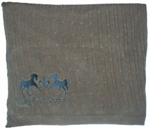 Equine Couture Cable Knit Throw