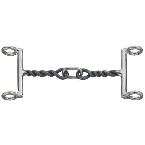 "5"" Gag Bit 3 Piece Mouth Twisted Snaffle"