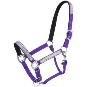Tough 1 Adjustable Nylon Halter with Crystal Accents