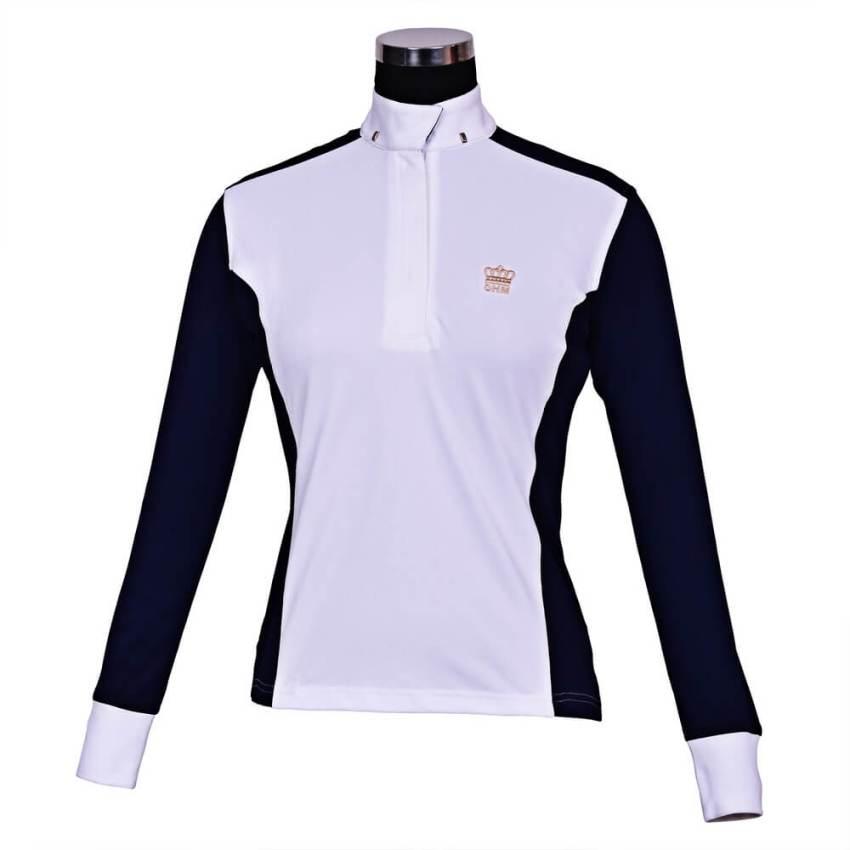 George Morris Champion Long Sleeve Show Shirt WHT/ECNVY