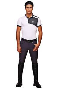George Morris Grand Prix Knee Patch Breeches GRAPHITE