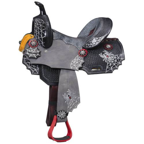 "Miniature/Pony 10"" Black Widow Saddle"