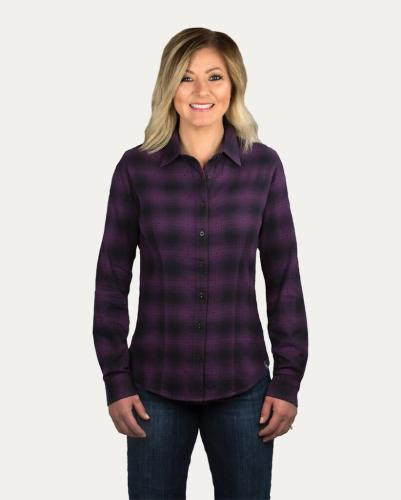 Noble Outfitters Downtown Flannel Shirt violet
