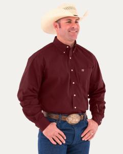 Noble Outfitters Generations Fit Long Sleeve Shirt Solid burgundy