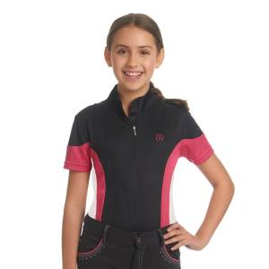 Ovation® Kid's Mock-Neck Performance Top